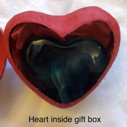Cast Glass Heart in a Heart