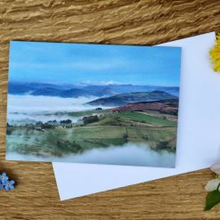 Morning Mist in Hope Valley Peak District - A6 Greeting Card