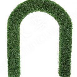 Artificial floral hedge wedding arch