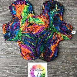 Rainbow Strands Cloth Menstrual Pad 9'' moderate/regular flow