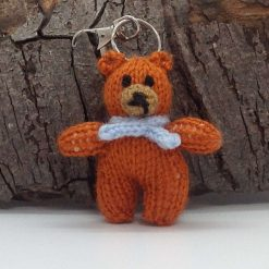 Bag charm or keychain knitted  hand made