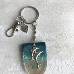 - Seascape Dolphins | Key Ring | Bag Charm