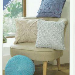 James C Brett - Crochet Pattern - Cushions