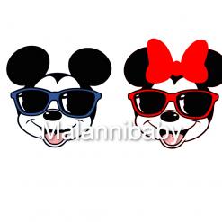 Cartoon Mice in Sunglasses | Digital File | Cricut | Silhouette | SVG EPs DXF JPEG PNG PDF