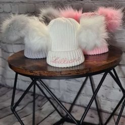 Personalised Pom Pom Bobble Hat 0-6 months