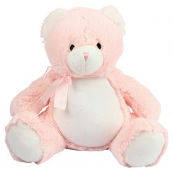 Personalised Baby Blue Teddy Bear 40cm High - Name plus DOB or Similar (MM556)