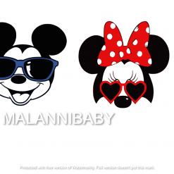 Mice Heads Heads | Digital File | Cricut | Silhouette | SVG ESP DXF JPEG PNG PDF