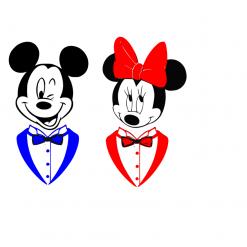 Mice In Tux | Dinner Jacket Svg | Digital File | Cricut | Silhouette | SVG EPS DXF JPEG PNG PDF