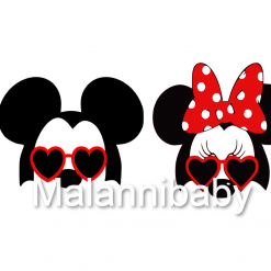 Funny Mice in Heart shaped Sunglasses | Digital File | Cricut | Silhouette | SVG EPS DXF JPEG PNG PDF