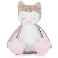 Personalised Owl Teddy Bear 40cm High - Name plus DOB or Similar (MM054)