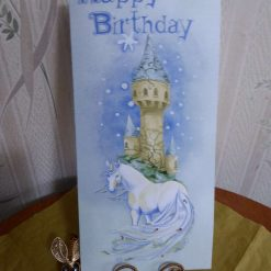 Bookmark Birthday Card, Unicorn