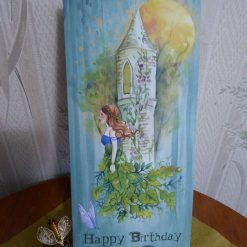 Bookmark Birthday Card, Leaf Fairy