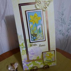 Daffodil & Butterfly Any Occassion Card