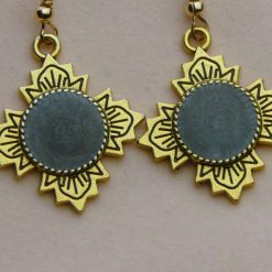Antique Gold and Black Earrings