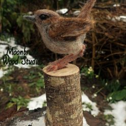 Needle Felt Wren, Needle felt animal, Sculpture, Needle felt bird, Woodland creature, Fibre art, Bird sculpture, gift, wildlife art