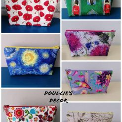 Cosmetic/make-up/holiday bag by Doulcie's Decor