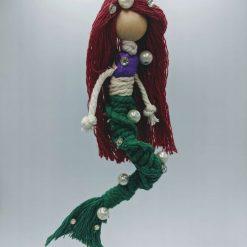 Princess Mermaid Macramé Doll hanging decoration
