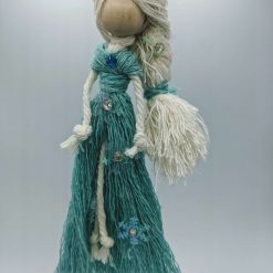 Snow Ice Queen Macramé Doll hanging decoration