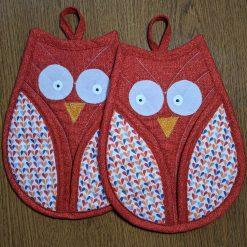 Owl oven gloves