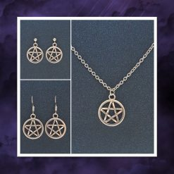 Pentagram Necklace | Tibetan Silver Charm Birthday Christmas Mothers Mother's Day Valentine Anniversary Easter Pagan Jewellery Gift Ideas | Charming Gifts