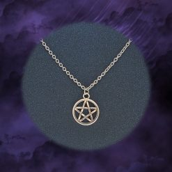 Pentagram Necklace   Tibetan Silver Charm Birthday Christmas Mothers Mother's Day Valentine Anniversary Easter Pagan Jewellery Gift Ideas   Charming Gifts