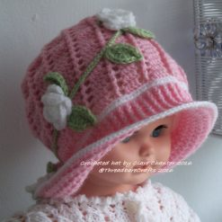 Crocheted Panama Hat with Flowers - Made to Order
