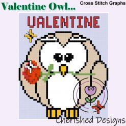 Valentine Owl Cross Stitch Chart