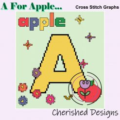 A Is For Apple Nursery Cross Stitch Chart