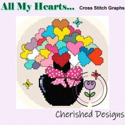 All Of My Hearts Cross Stitch Chart