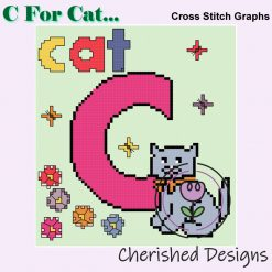 C Is For Cat Nursery Cross Stitch Chart