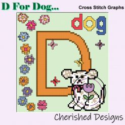 D Is For Dog Nursery Cross Stitch Charts