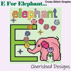 E Is For Elephant Nursery Cross Stitch Charts