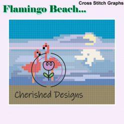 Flamingo Beach Cross Stitch Charts