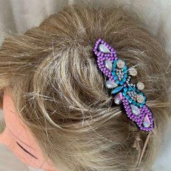 Girls Purple Butterfly Hair clip.