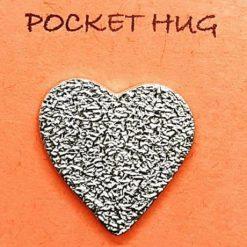 "Silver ""Pocket Hug"" Heart Charm 1"