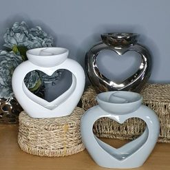Ceramic Heart Oil/Wax Melt Burner