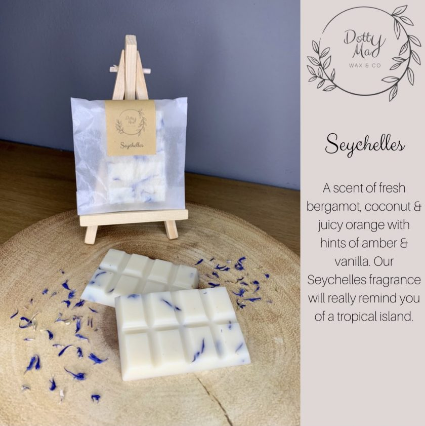 Natural Soy Wax Melts Mini Snap Bar, Highly Fragranced, Various Scents