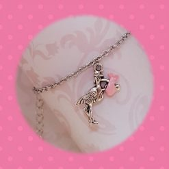 'Bird' Stork Baby Girl Pink Necklace   Tibetan Silver Birthday Christmas Mothers Mother's Day Valentine Anniversary Easter Shower Jewellery Gift Ideas   Charming Gifts