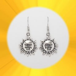 Sun Necklace, Earrings, JewellerySet  Tibetan Silver Charm Birthday Christmas Mothers Mother's Day Valentine Anniversary Easter Boho Gift Set Ideas   Charming Gifts 3