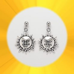 Sun Necklace, Earrings, JewellerySet  Tibetan Silver Charm Birthday Christmas Mothers Mother's Day Valentine Anniversary Easter Boho Gift Set Ideas   Charming Gifts 2