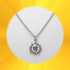 Sun Necklace, Earrings, JewellerySet  Tibetan Silver Charm Birthday Christmas Mothers Mother's Day Valentine Anniversary Easter Boho Gift Set Ideas   Charming Gifts 1