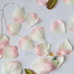 Swarovski Crystal Family Tree Personalised Birthstone Charm Necklace