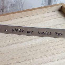 Metal stamped bookmark