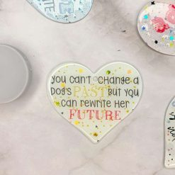 Decorative Heart Bauble - 'I Heart Rescue' Collection - RESCUE is a Promise Not a Verb (Wall Hanging / Pendant)