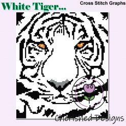White Tiger Cross Stitch Charts