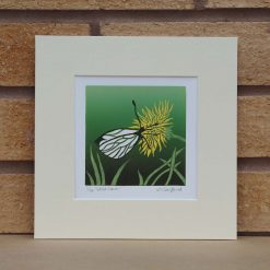 Wild Lawn - Butterfly - Original Lino Print by Sarah's Printing [sarahs printing]