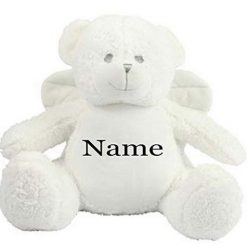 Mumbles Angel Teddy Bear Personalised Embroidered Name.