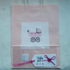 Baby gift bag + tag set
