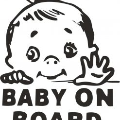 Baby on Board Vehicle Car Window Decal art Decal Sticker