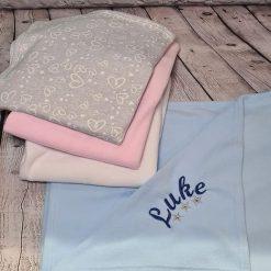 Personalised fleece baby blanket